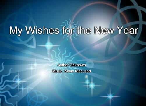 My Wishes for the New Year