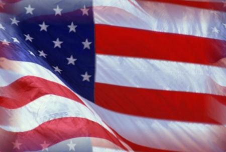 100 American Flags