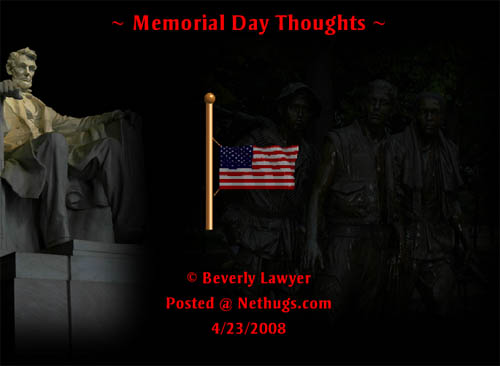 Memorial Day Thoughts