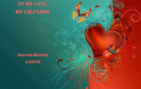 To My Love My Valentine