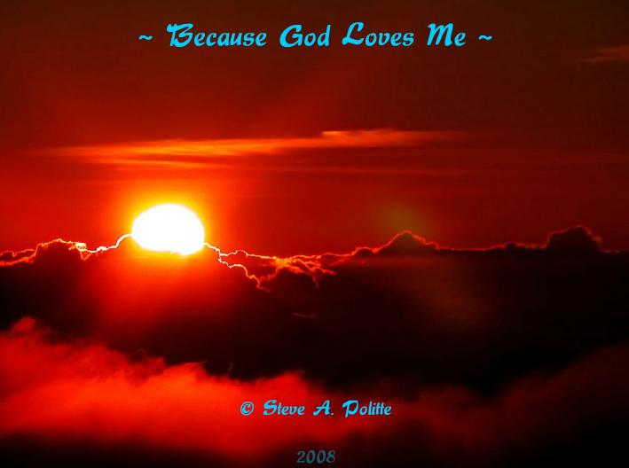 Because God Loves Me – NetHugs.com