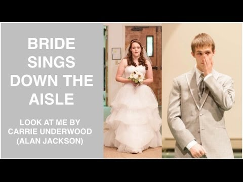 Bride Sings down the Aisle