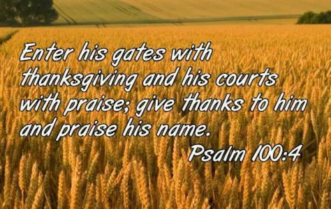 Thanksgiving to the Lord