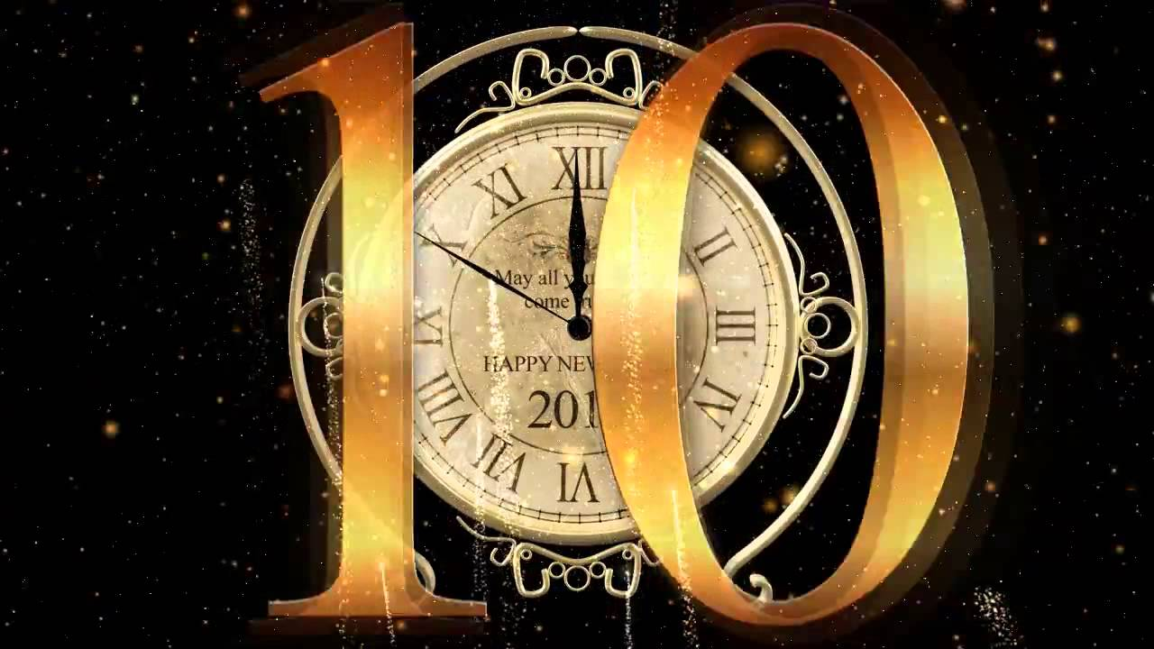 Happy New Year Clock 2015