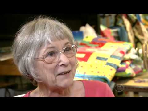 Retired Grandma Makes Quilts for Children in Shelters