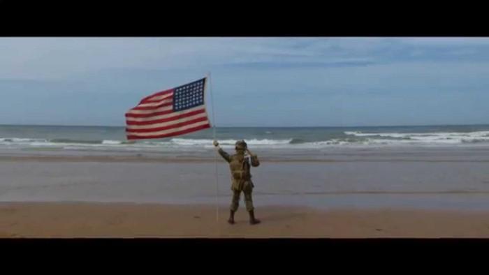 The Saluting Boy on Omaha Beach