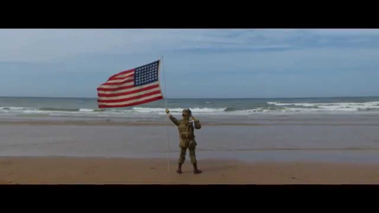 The Saluting Boy on Omaha Beach
