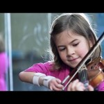 8-Year-Old Violinist Excels Beyond Measure Despite Hand Disability