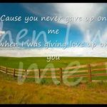 You Never Gave Up on Me – Crystal Gayle