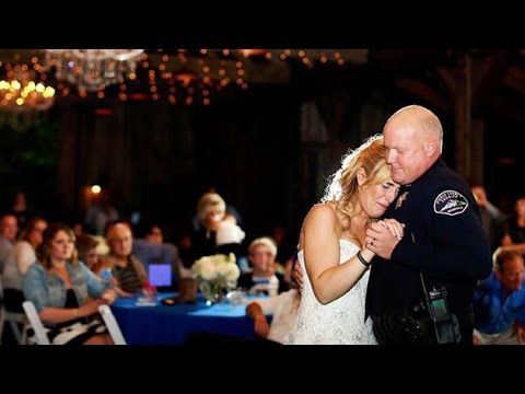 Officers Dance With Slain Colleague's Daughter At Her Wedding