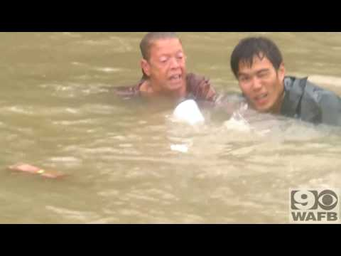 Incredible Rescue in Baton Rouge Floodwater