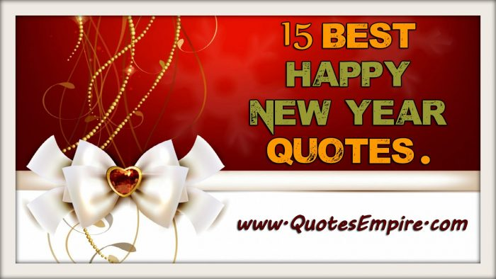 15 Most Beautiful Happy New Year Quotes