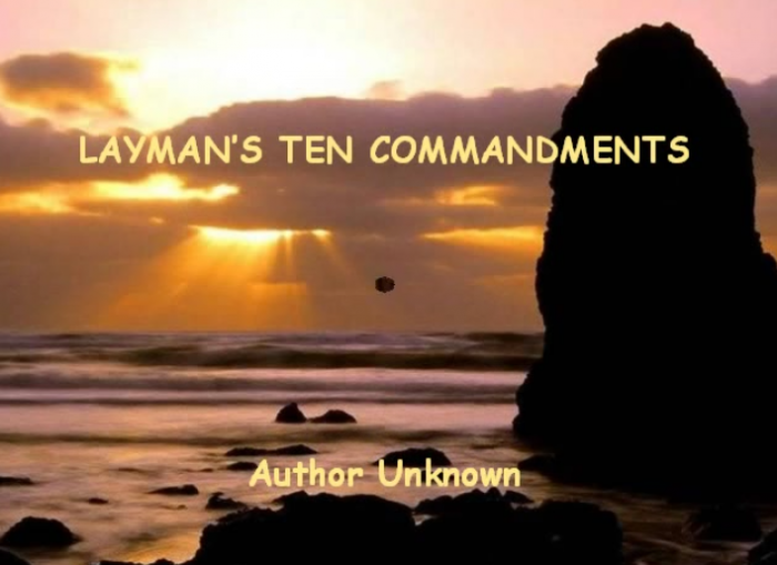 Layman's Ten Commandments