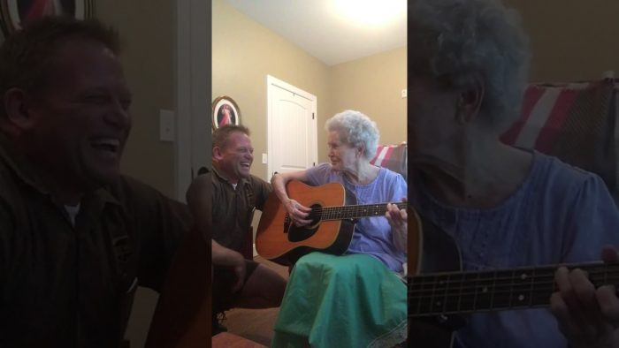 88 Year Old Women with Alzheimer's Sings and Plays Beautifully with Her Son