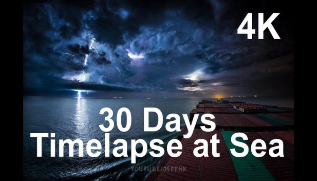 30-Days-Timelapse-at-Sea-4K-Through-Thunderstorms-Torrential-Rain-Busy-Traffic