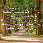 Before You…