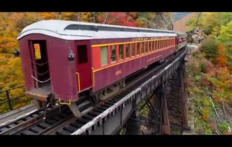 Conway Scenic Train Ride During Fall in New Hampshire
