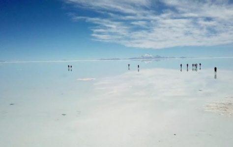 Flooded Salt Flats Look Like Giant Mirror
