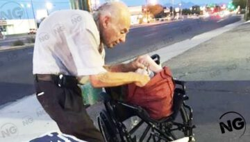 Old Man Who Sits on a Street Corner Every Night