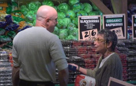 Older Woman Shopping Alone Asks for Help