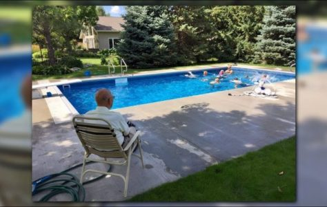 94-Year-Old Retired Judge Puts in Pool for Neighborhood Kids
