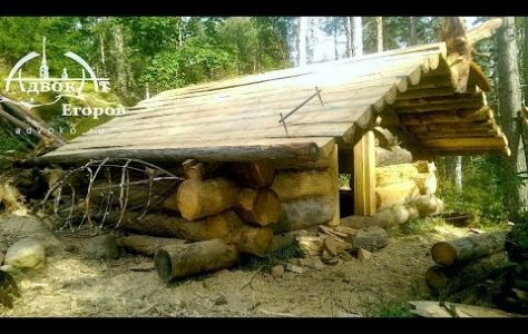 Off Grid Log Cabin Built by One Man