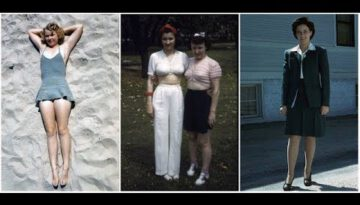 40 Amazing Color Photos Showing Everyday Women's Style of the 1940s