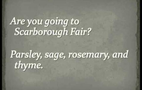Scarborough Fair – Simon & Garfunkel