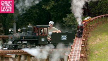 Man Builds World's Longest Backyard Railroad Trestle
