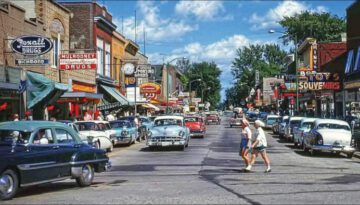 Main Street, USA in the 1950s – Life in America